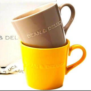 ディーンアンドデルーカ(DEAN & DELUCA)のDEAN & DELUCA モーニングマグ イエロー /  アーモンドベージュ(グラス/カップ)