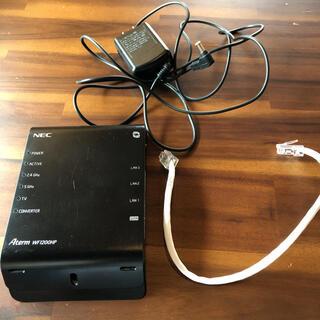 エヌイーシー(NEC)の美品 NEC PA-WF1200HP 無線ルータ(PC周辺機器)