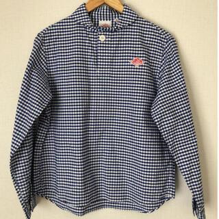ダントン(DANTON)の美品⭐︎丸襟ポケット付きシャツ(シャツ/ブラウス(長袖/七分))