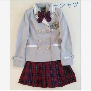 ラブトキシック(lovetoxic)のラブトキシック新品 卒服 150 グレー✕チェック(ドレス/フォーマル)