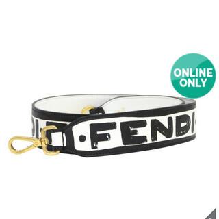 フェンディ(FENDI)の【新品 正規品】フェンディ ストラップユー ホワイト/ブラック(バッグチャーム)