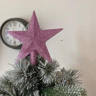 ニトリ(ニトリ)のRiii様☆2019購入☆クリスマスツリーオーナメント☆トップスター ピンクラメ(インテリア雑貨)
