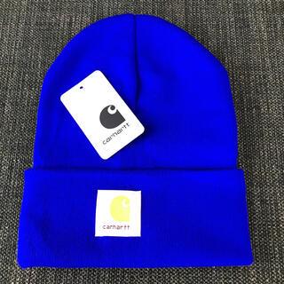 カーハート(carhartt)の【新品】Carhartt ニット帽 MADISON LOGO CAP ブルー(ニット帽/ビーニー)