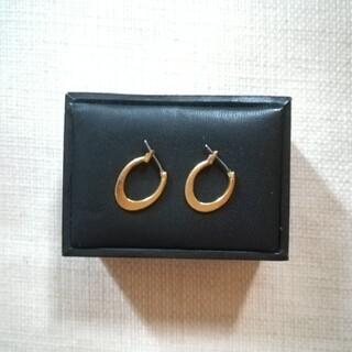 ピアス ゴールド シンプル 楕円形(ピアス)