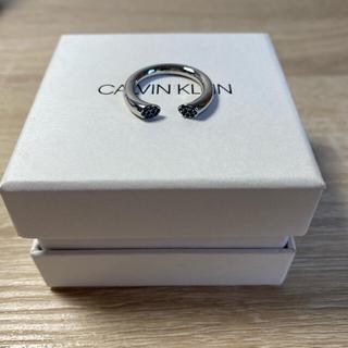 カルバンクライン(Calvin Klein)のClavin Kleinリング(ブリリアント) シルバー&ブルー(リング(指輪))