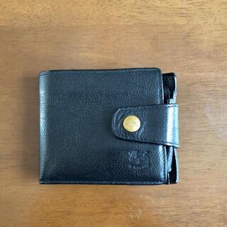 イルビゾンテ(IL BISONTE)の☆イルビゾンテ☆ 本革レザー折り財布 【黒】(折り財布)