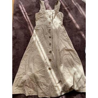 ダブルクローゼット(w closet)のW CLOSETのジャンパースカート(ロングワンピース/マキシワンピース)