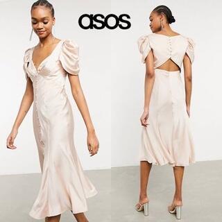 エイソス(asos)のASOS DESIGN ドレープショルダードレス(ミディアムドレス)