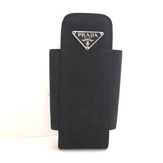 プラダ(PRADA)のPRADA(プラダ) 携帯電話ケース - 黒(モバイルケース/カバー)