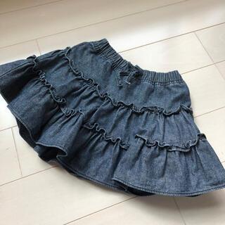 ベビーギャップ(babyGAP)のbaby gap  ベビーギャップ デニムフリルスカート 95 100(スカート)