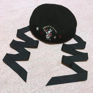 ベイビーザスターズシャインブライト(BABY,THE STARS SHINE BRIGHT)のBABY トランプうさぎ刺繍ベレー帽(ハンチング/ベレー帽)