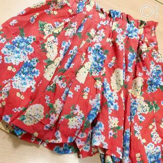 レピピアルマリオ(repipi armario)のレピピ 花柄キュロット サイズM 中古(スカート)