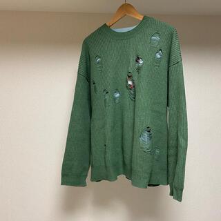 アンユーズド(UNUSED)のdairiku layered damage knit(ニット/セーター)