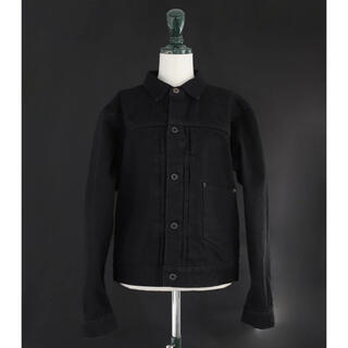 BLACK SIGN 15oz BLACK DENIM PLEATS JKT