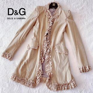 ドルチェアンドガッバーナ(DOLCE&GABBANA)のDOLCE&GABBANA⭐️ベルベット⭐️高級⭐️コート⭐️定価40万(ロングコート)