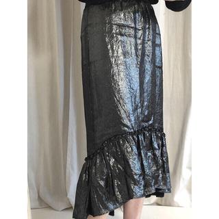 silver skirt♡(ロングスカート)
