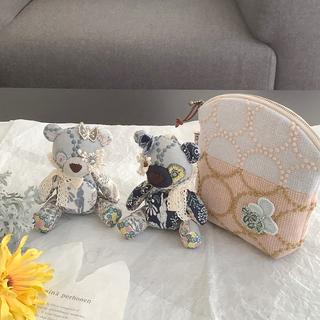 ミナペルホネン(mina perhonen)のしましー様♡専用♡エンジェルちびパンダ♡とタンバリン♡パッチお花のポーチ(人形)