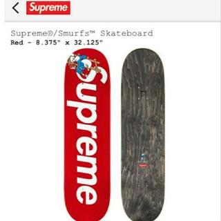 シュプリーム(Supreme)のSupreme smurfs skateboard deck  RED(その他)