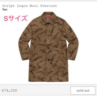 シュプリーム(Supreme)の【S】Supreme Script Logos Wool Overcoat(チェスターコート)