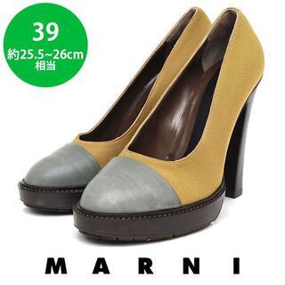 マルニ(Marni)のほぼ新品❤️マルニ トゥ切り替え パンプス 39(約25.5-26cm)(ハイヒール/パンプス)