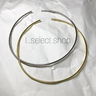 421.round pipe choker【gold】(ネックレス)