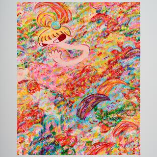 【現在入手困難/サイン無し】ロッカクアヤコ  千葉県立美術館 ポスター限定千部 (版画)