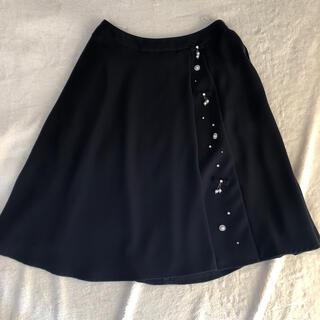ルネ(René)のルネ rene  ネイビー スカート 36 美品(ひざ丈スカート)