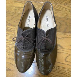 レペット(repetto)の美品 レペット repetto レースアップシューズ ブラウン(ローファー/革靴)