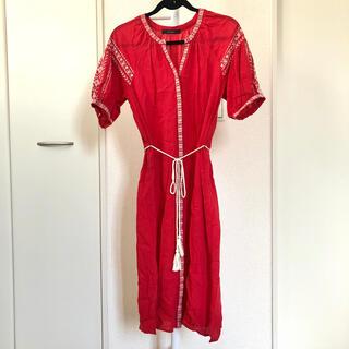 ダブルクローゼット(w closet)のw closet 2way 刺繍 ワンピース ロングシャツ(ロングワンピース/マキシワンピース)
