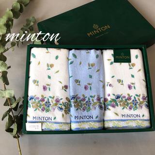 ミントン(MINTON)のminton୨୧ミントン フェイスタオル ウォッシュタオル 3枚セット(タオル/バス用品)