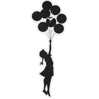 """メディコムトイ(MEDICOM TOY)のWALL CLOCK """"FLYING BALLOONS GIRL"""" 2nd(掛時計/柱時計)"""