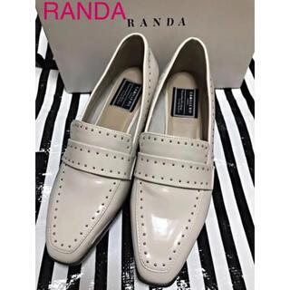 ランダ(RANDA)の1度使用♡ RANDA スタッズ 厚底パンプス (ローファー/革靴)