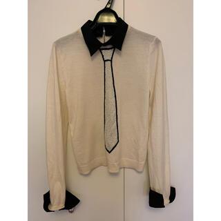アリスアンドオリビア(Alice+Olivia)のAlice+Olivia ネクタイデザインウール100%セーター(ニット/セーター)