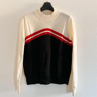 メゾンキツネ(MAISON KITSUNE')のMAISON KITSUNE ニット セーター S ホワイト(ニット/セーター)