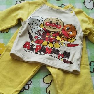 バンダイ(BANDAI)のアンパンマン パジャマ 80 長袖 黄色 しょくぱんまん カレーパンマン(パジャマ)