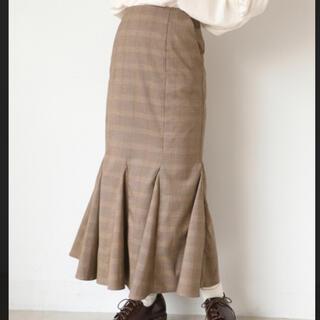 ナイスクラップ(NICE CLAUP)のチェック柄マーメイドスカート(ロングスカート)