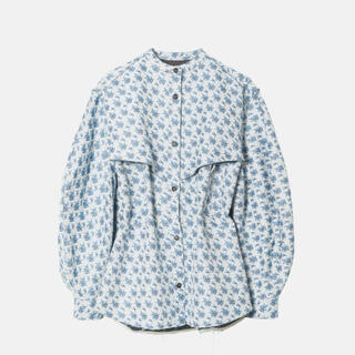 ルシェルブルー(LE CIEL BLEU)の求 探 IRENE Flower JQD Shirt Jacket AW20(ノーカラージャケット)