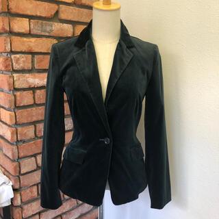 エムプルミエ(M-premier)の美品 M-PREMIER ジャケット ブラック NIEDIECK VELVET(テーラードジャケット)