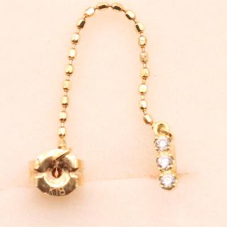 アーカー(AHKAH)のアーカー ダイヤモンド デュー k18 ピアス 片耳(ピアス)