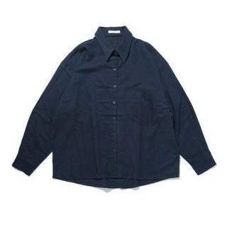 レプシィム(LEPSIM)の★メンズ/レディース シンプル♪ビッグネルシャツ☆ フリーサイズ/ネイビー 新品(シャツ)