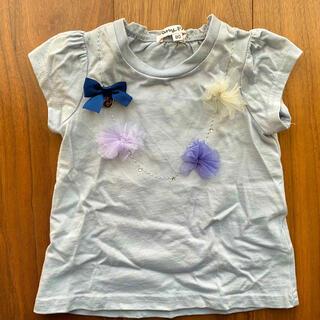 エニィファム(anyFAM)の美品80cm★anyFAM ネックレス風 Tシャツ ブルー(Tシャツ)