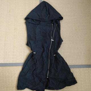 エイチアンドエム(H&M)のH&M ジャケット フード付 スタイルアップ ウエストマーク ブラック(その他)