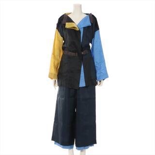 イッセイミヤケ(ISSEY MIYAKE)のイッセイミヤケ  リネン M ブルー レディース スーツ(スーツ)