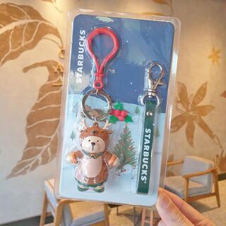 スターバックスコーヒー(Starbucks Coffee)の韓国スタバ★ホリデーXmas1★限定★ホリデートナカイベアリスタキーチェン(キーホルダー)