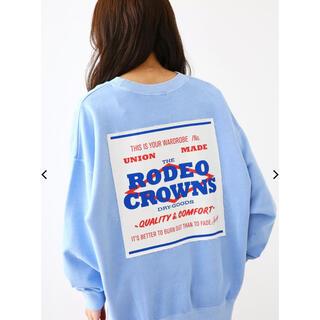 ロデオクラウンズ(RODEO CROWNS)のロデオ!! ピグメントパッチスウェット !!(トレーナー/スウェット)