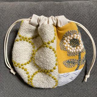 ミナペルホネン(mina perhonen)の【ハンドメイド 】ミナペルホネン  巾着袋(ポーチ)