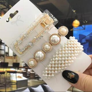 新品 上品 パール ヘアピン ヘアクリップ 大人 厳選 3本 セット真珠 人気(バレッタ/ヘアクリップ)