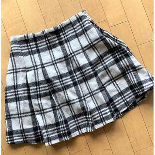 レピピアルマリオ(repipi armario)の✰repipiレピピ✰秋冬物モノトーンチェック柄スカート Mサイズ(スカート)