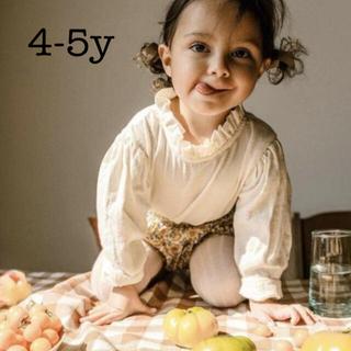 Caramel baby&child  - 新品タグ付き‼️mabo スタンドフリルネック ブラウス4-5y