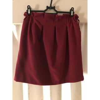 ヘザー(heather)の赤のバルーンスカート(ひざ丈スカート)